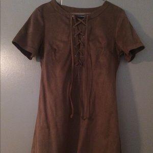GLAMOROUS Beige Mini Dress